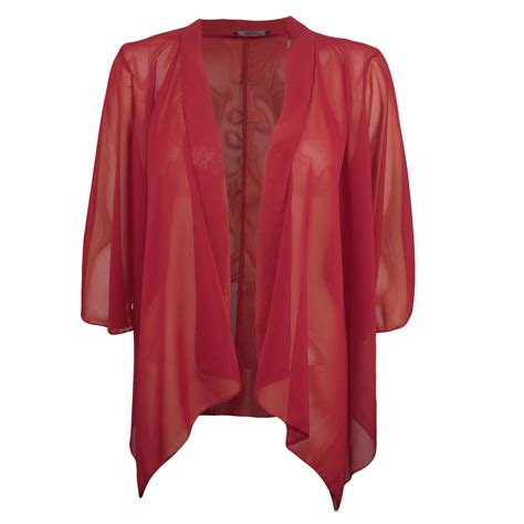 Sexy7 Kimono 0012 new womens wine chiffon kimono jacket s m m l