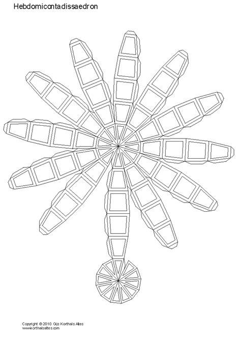 modelli di carta di ebdomicontadissaedro