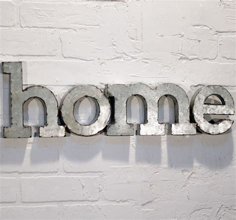 words for the wall home decor metal word wall quot home quot miami by antique farmhouse