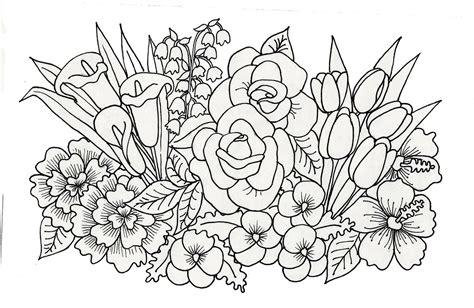 floral arrangements art adult coloring pages printable