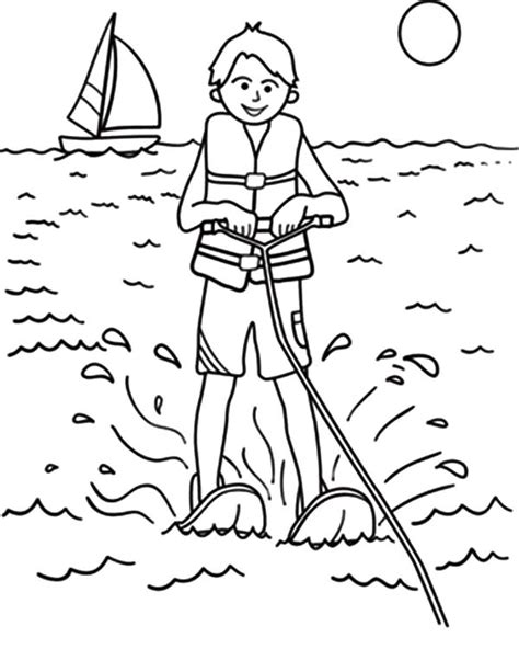 Coloring Pages Of Water by Water Skiing Coloring Pages Coloring Pages