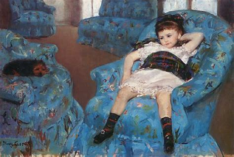 mary cassatt little girl in a blue armchair mary cassatt little girl in a blue armchair