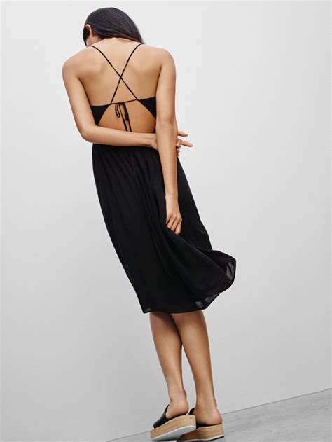 talula cosimo dress in black featuring a criss cross back olhar pinterest black fashion