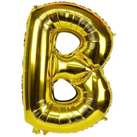 Gold Foil Balloon B 30 quot foil mylar balloon gold letter b