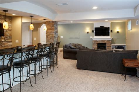 houzz basement finished basements modern basement other metro by