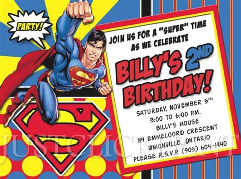 superman birthday card template superman birthday invitations wblqual
