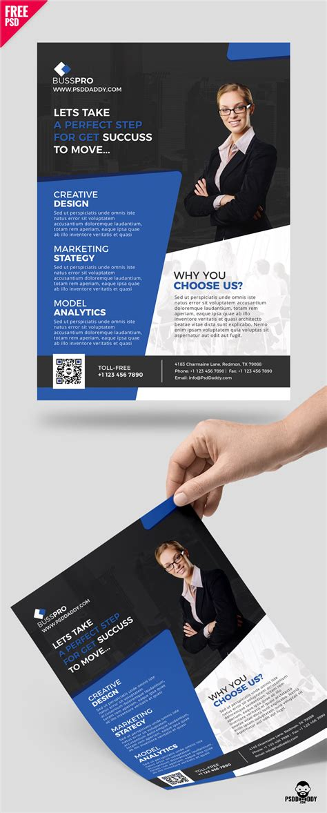 Business Flyer Template Free Psd Psddaddy Com A5 Size Brochure Templates Psd Free
