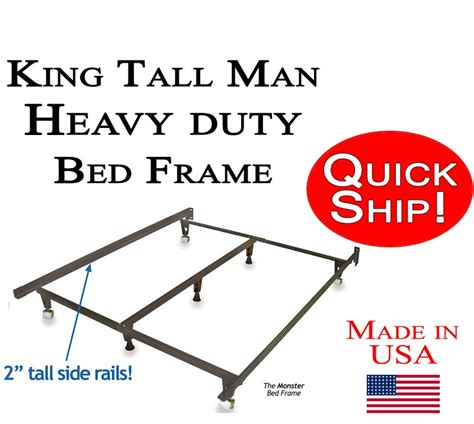 tall metal bed frame king tall man size metal bed frame