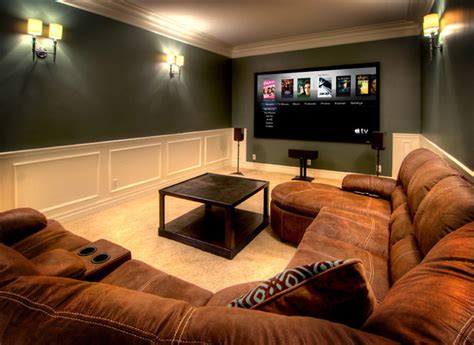simple and sweet contemporary home theater other - Simple Media Room Ideas