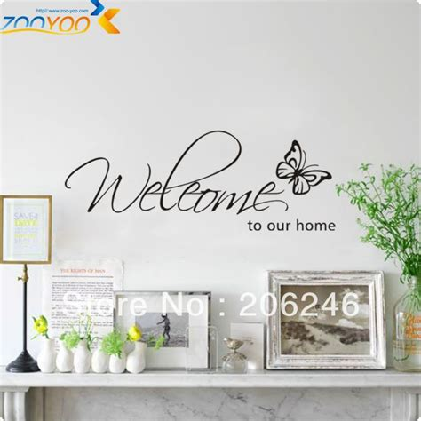 vinyl decals for home decor zooyoo original butterfly welcome to our home vinyl wall