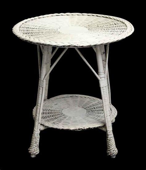 white wicker side table olde things
