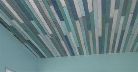 repurposed ceiling furring strips striped ceiling