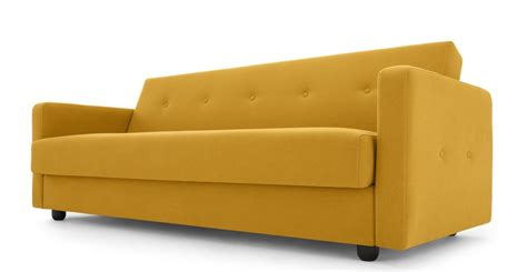 bed and butter chou sofa bed with storage butter yellow made com
