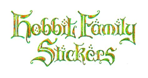 Family Stickers 04 hobbit family stickers lord of the rings car stickers