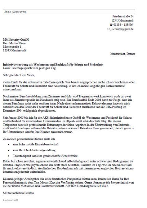Anschreiben Bewerbung Zimmerer Bewerbung Wachmann Ungek 252 Ndigt Berufserfahrung Sofort