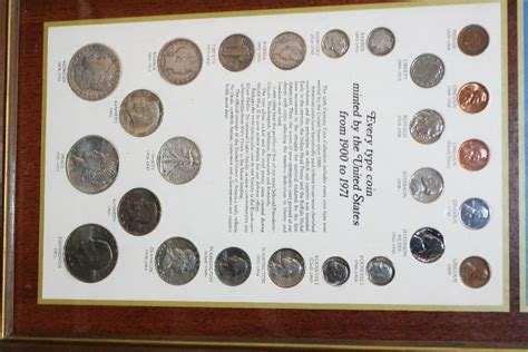 20th Century Coins Framed by Framed United States Coins Of The 20th Century Every Type