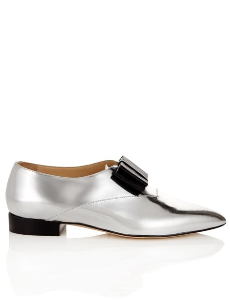 bionda castana silver leather point rosa shoes in silver