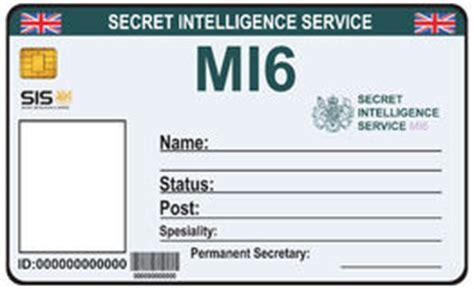Mi6 Id Card Template by Secret De L Identit 233 Mi6 Dans Une Bourse