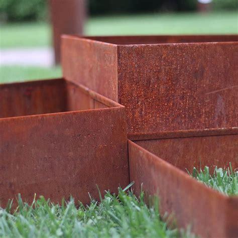 cornici quadrate kit cornici corten quadrate my green help