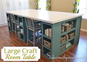diy craft room table home improvement the inspired room
