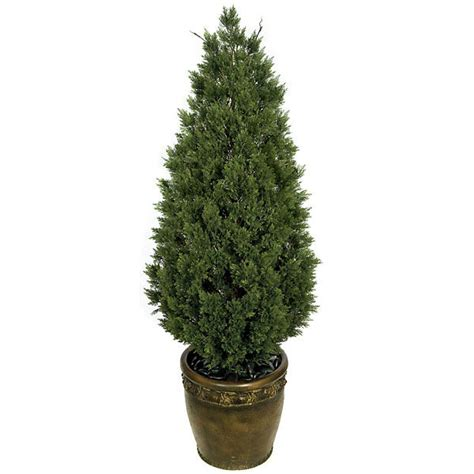 Potted Trees by 58 Inch Artificial Cedar Tree Potted A 84185