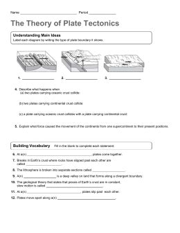 volcanoes and plate tectonics worksheet answers the best
