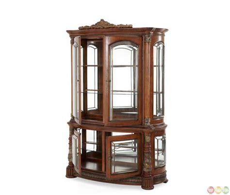 are curio cabinets out of style michael amini traditional style villa valencia curio