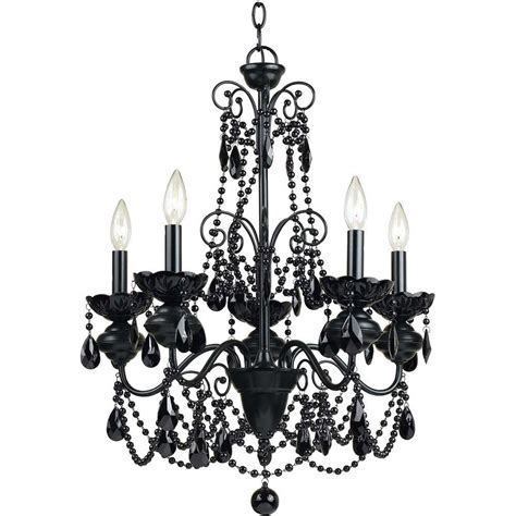 Black Metal Chandelier Black Metal Af Lighting Mischief 5 Light Black Metal Chandelier With Black Glass Bead Accents 7506 5h The