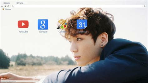 theme for google chrome bts bts jungkook young forever day chrome theme themebeta