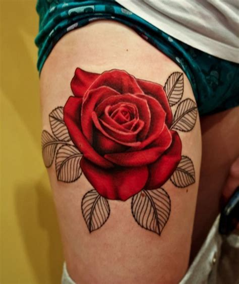 3d rose tattoos 3d tattoos