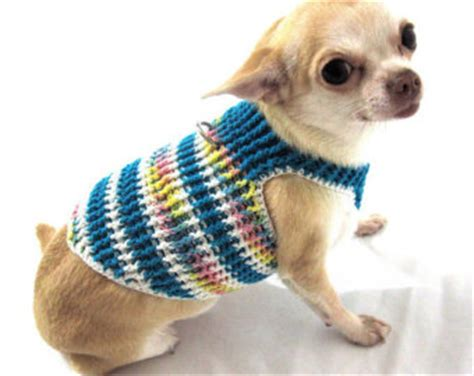 puppy clothes boy boy clothes harness striped blue unique puppy sweater walking cotton dh18