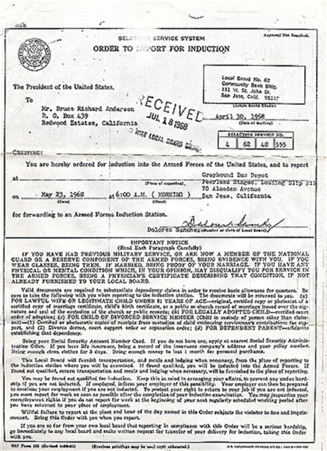 Selective Service Letter Yahoo Answers 1968 Induction Notice Why I Was Born In Toronto Part 1 Flickr