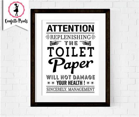 funny bathroom signs to print toilet paper print funny bathroom art bathroom rules