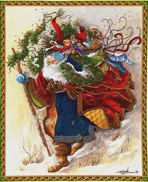 windswept santa tapestry christmas wall tapestries and