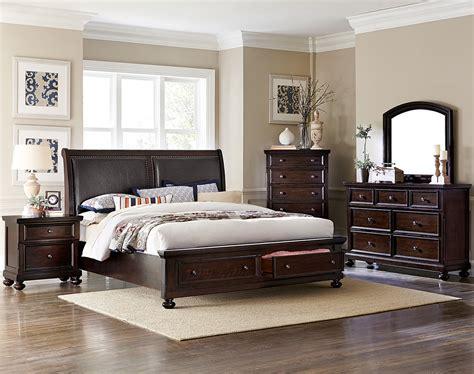 chester  piece queen bedroom set cherry leons