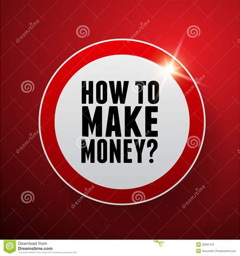 how to make a batton how to make money button royalty free stock images image 32391479