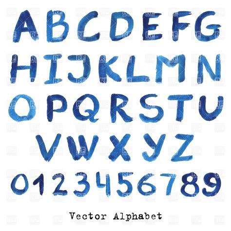 eps format fonts hand drawn ink alphabet watercolour font royalty free