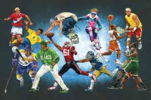 sport wall murals large wall mural sports stars baseball basketball football