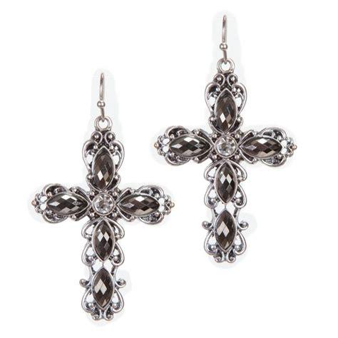 shop s m f cross earrings