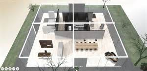 Four Bedroom House Plans One Story a virtual look into mies van der rohe s core house archdaily