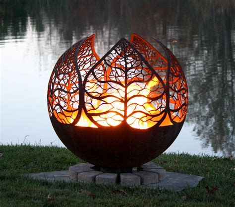 Autumn Leaf Fire Pit Sphere Home Pinterest Leaves Pit Sphere