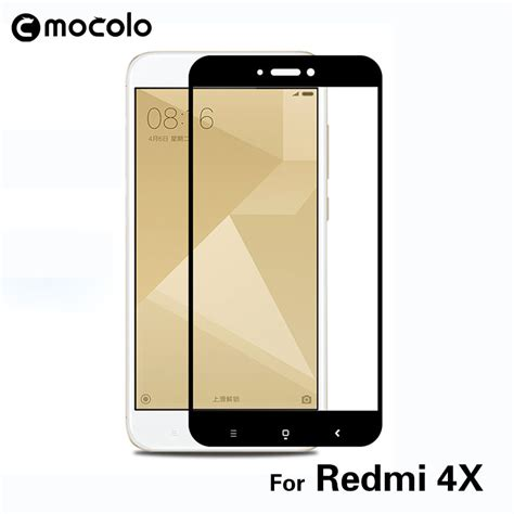 Mocolo Tempered Glass Cover Xiaomi Redmi 4x White מוצר 2pcs lot mocolo xiaomi redmi 4x glass tempered