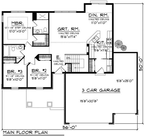 simple ranch floor plans houseplans com ranch main floor plan plan 70 1159