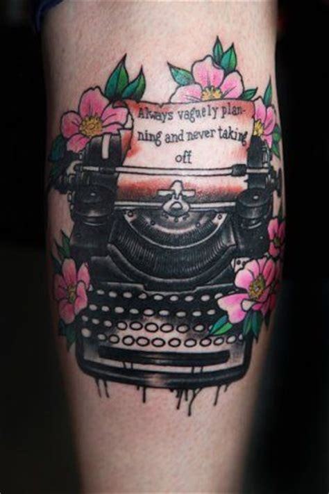 typewriter tattoo typewriter w paper and text tattoos
