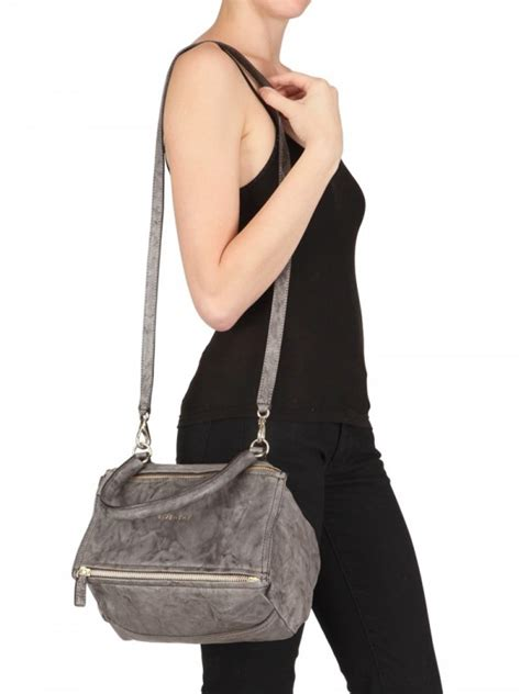 lyst givenchy washed leather pandora small shoulder bag