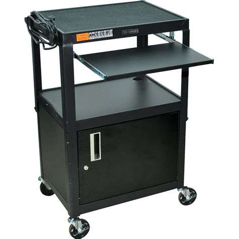 uline rolling tool cabinet luxor adjustable height steel a v cart with keyboard avj42kbc