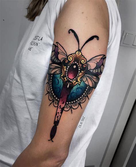 ornamental tattoo ornamental dragonfly with jewels best