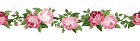 rose clipart horizontal pencil and in color rose clipart
