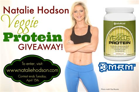 Protein Giveaway - natalie hodson giveaway mrm veggie protein
