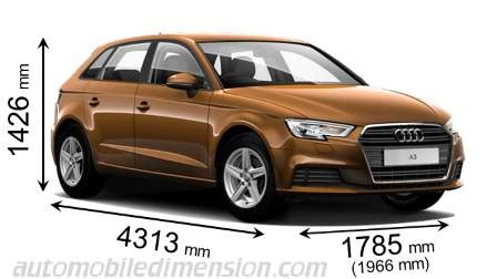 length audi a3 audi a3 sportback 2016 dimensions boot space and interior